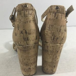G by Guess Shoes - G By Guess Shantel3 Cork Chunky Heel Sandals New